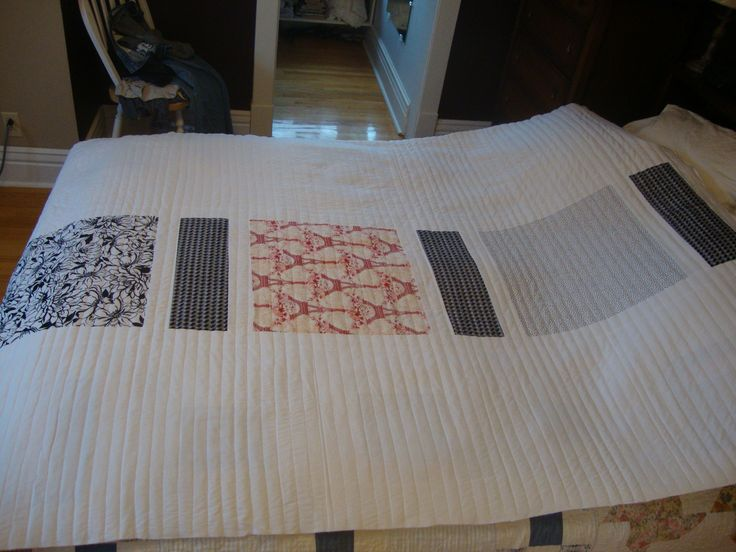 This is the back of a quilt I made for my daughter's friend.
