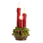 RAZ Vintage Look Bell Red Candle Lamp