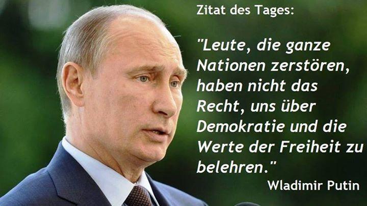 Was tut dieser Diktator, will er das selbe mit der Menschheit machen, was Hitler… – Paul Helmut