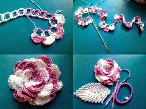 Tutorial flores crochet