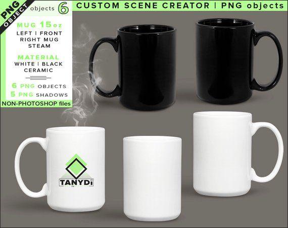 Blank Png Coffee Mug 3 Png White Mugs M10 Left Front Right Etsy Mugs Coffee Mugs Custom Scene