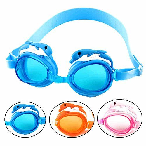 Cute Dolphin HD waterproof goggles antifog goggles of the child children animal swimsuit  pink -- You can find more details by visiting the image link.Note:It is affiliate link to Amazon.