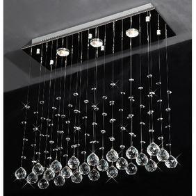 Drops of Rain Crystal Chandelier Modern Raindrop Design Lighting Fixture