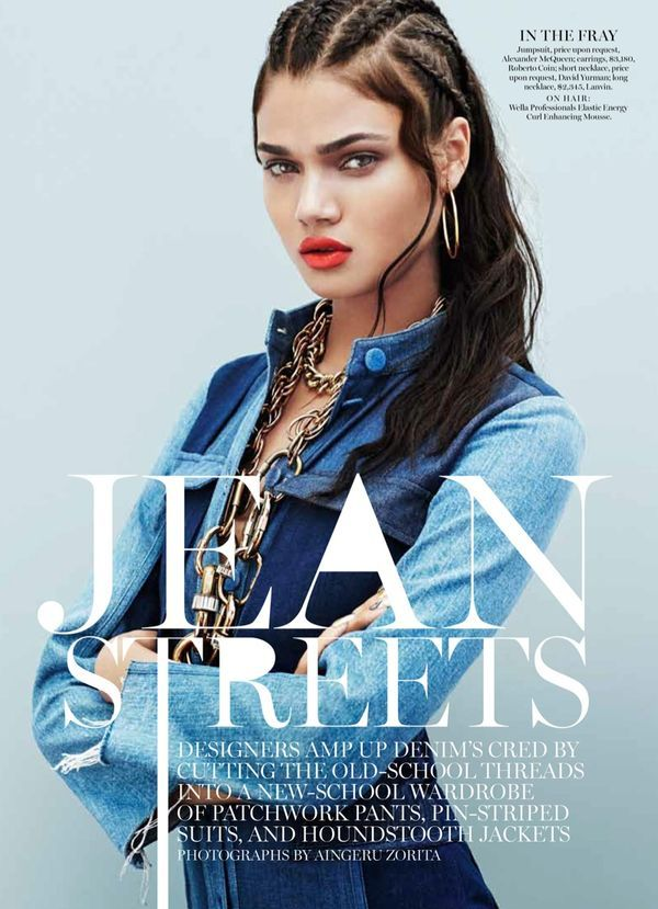 Marie Claire US 'Jean Streets' - The Marie Claire US 'Jean Streets' editorial revolves around some tough chic, borderline ghetto all-denim outfits. Although clearly per...
