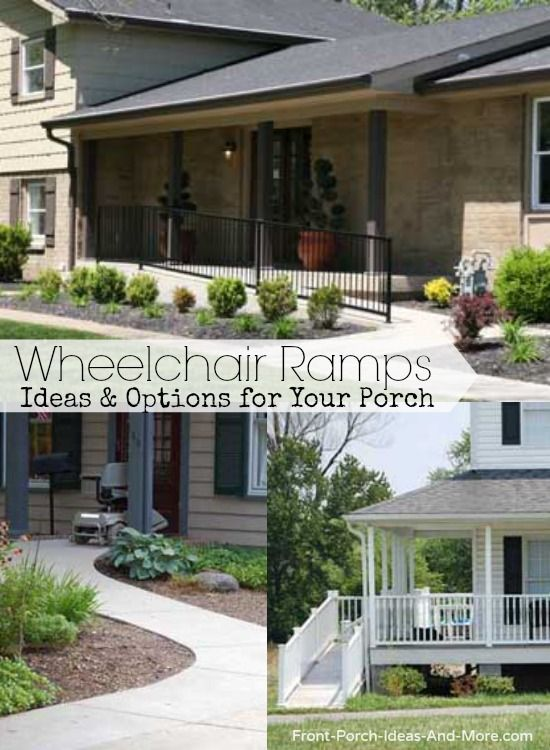 Options for wheelchair ramps for your porch and home include portable, rollup, custom. Learn about the ADA guidelines and more at: http://www.front-porch-ideas-and-more.com/wheelchair-ramp-design.html #porchlift