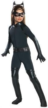 PartyBell.com - Catwoman Deluxe Jumpsuit and Molded Mask Costume Child