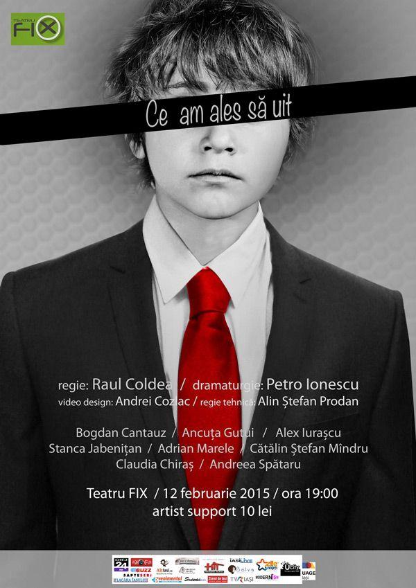 """Spectacolul """"Ce am ales să uit"""", de Petro Ionescu @Teatru Fix"""