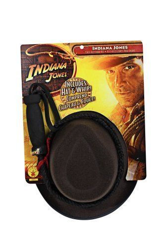 Indiana Jones Childs Hat and Whip Set by Rubies @ niftywarehouse.com