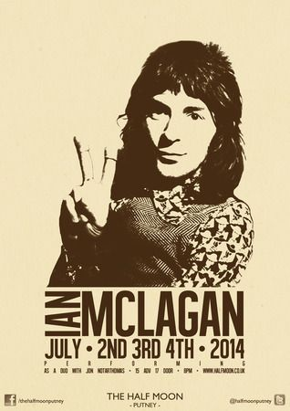 Ian McLagan at The Half Moon Putney, 93 Lower Richmond Road, London, SW15 1EU, UK On 4 July'14 at 8pm-11pm. Ian McLagan is a genuine, dyed-in-the-wool rock'n'roller. He was, after all, a member of the Small Faces and the Faces. Category: Live Music. Price:£15-£17. URL: Tickets: http://atnd.it/8199-0.