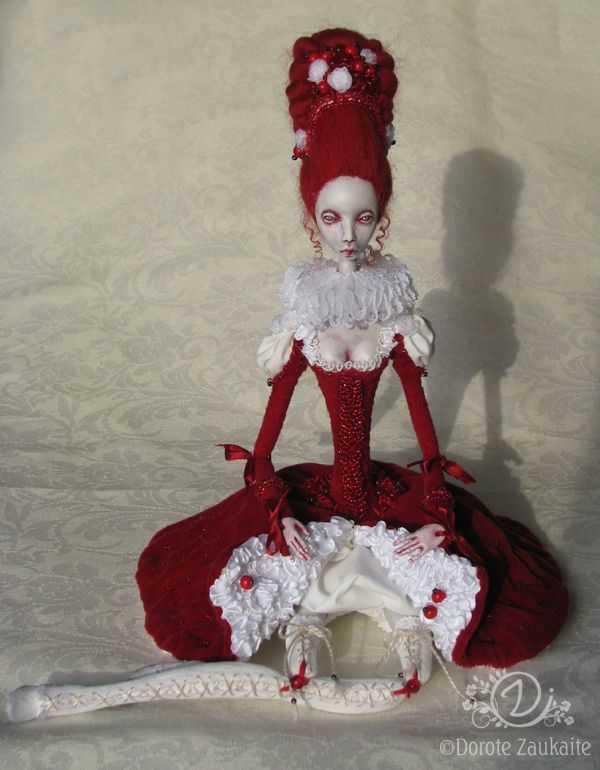 Art doll with interesting limb connections: Dolls Tireless Artists, Dorot Zaukait, Red Dolls, Artdolls, Heartbeatjpg 600770, Zaukait Heartbeat, Dolls Artists, Artists Dolls, Art Dolls