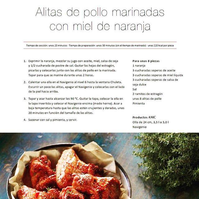 ¡Llega la receta del viernes!Alitas de pollo marinadas con miel de naranja. ¡Buenísimas!
