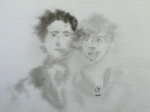 Arcok a múltból, Képzőművészet , Festmény, Akvarell, Meska