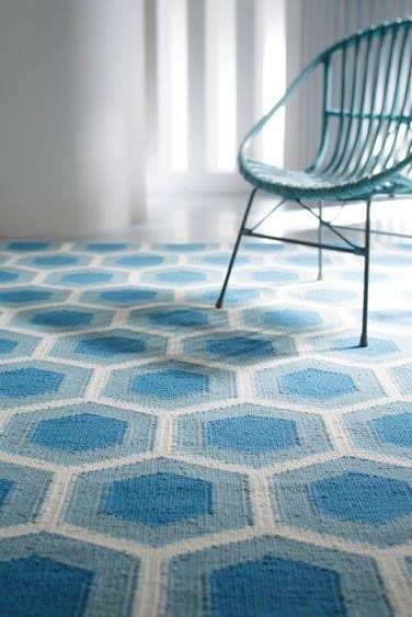 Hive - With its bright, fashion-forward colours, the Hive presents geometric pattern with the chance to make a contemporary statement. This stand-out floor covering offers a beautiful design as well as the warmth and texture of a finely-crafted, hand-woven wool rug.