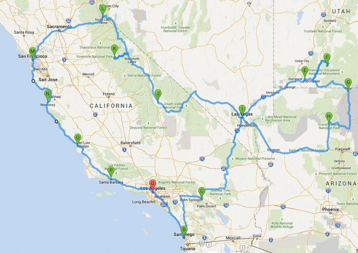Große Rundreise mit San Diego: Kompakte Rundreise Westküste USA: hier findet Ihr kurze und lange Reiserouten in Kalifornien...