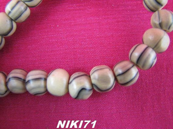 Natural Striped Wood Beads 2106 and 2130 2259 and 2289 by NIKI71, $4.00