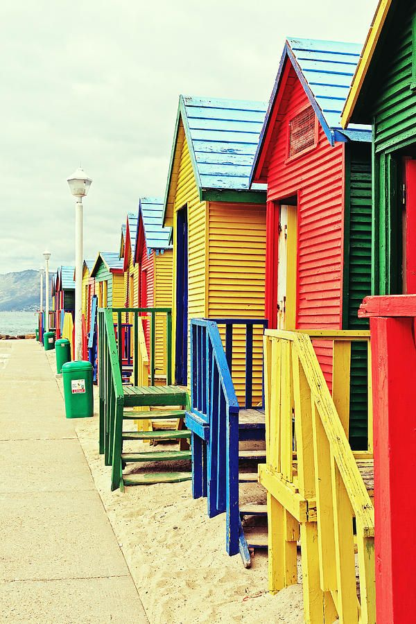 St James Beach Huts, Cape Town, South Africa Repinned by Spark Strategic Ideas www.sparksi.com