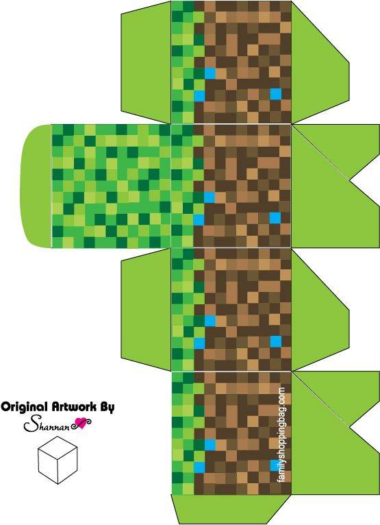Printable Minecraft favor box free