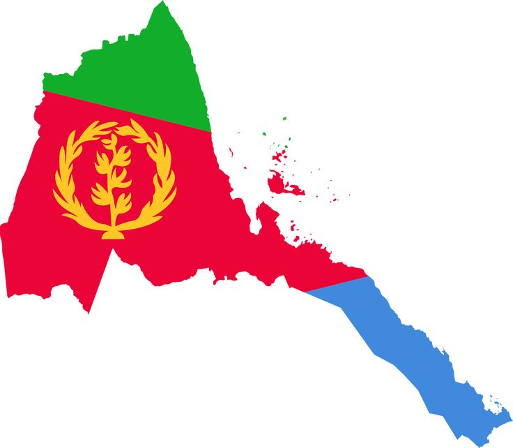 Eritrea Flag Map Geography