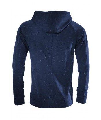 Veste zippée à capuche homme Gov Denim bleu 163018_BL