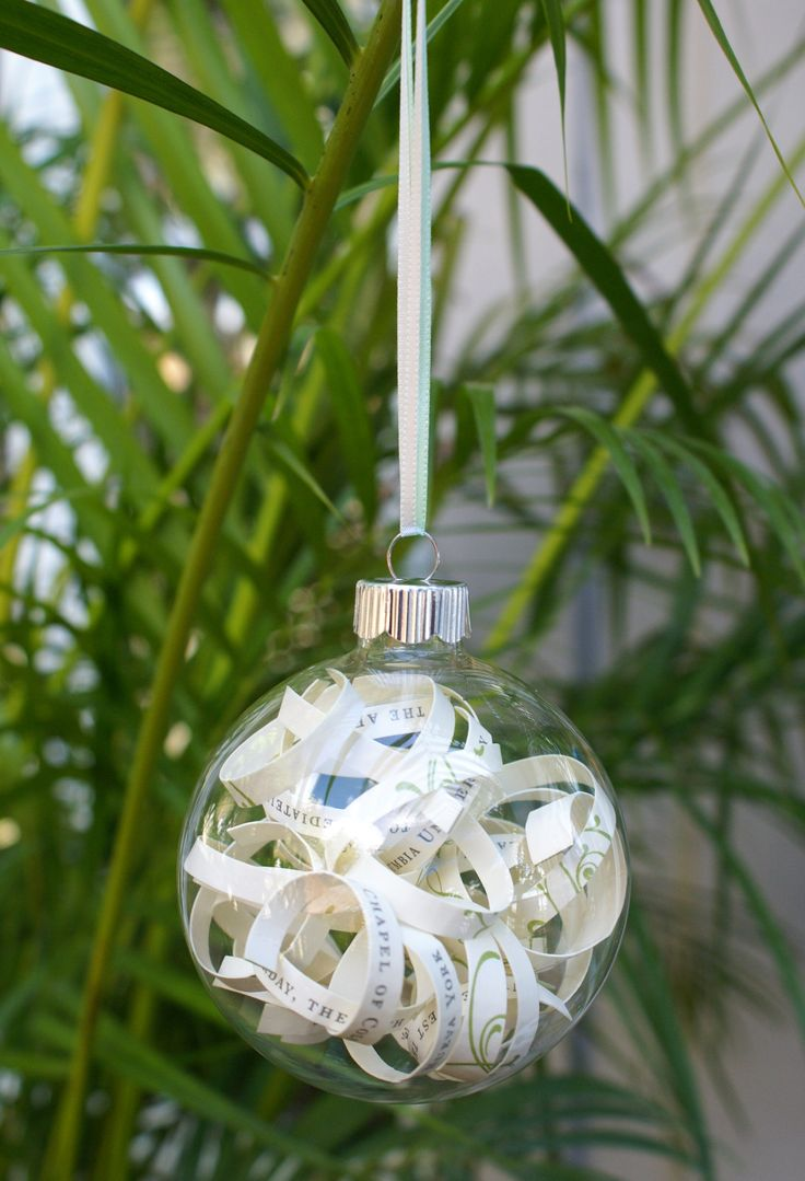 Diy christmas ornaments for newlyweds - Diy Wedding Invitation Ornament Via The Thinking Closet This Project Was Inspired By Christy At