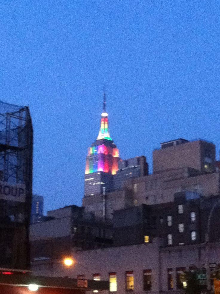 Rainbow Empire State Building