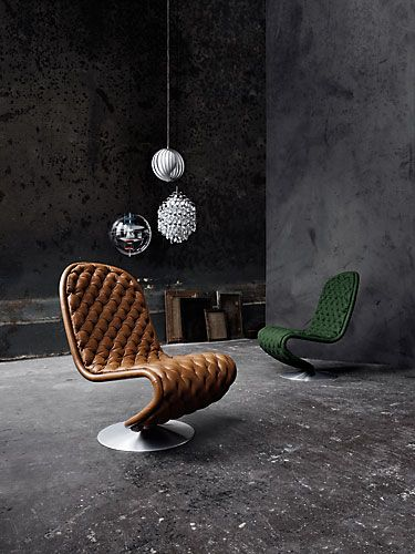 Verner Panton chairs.