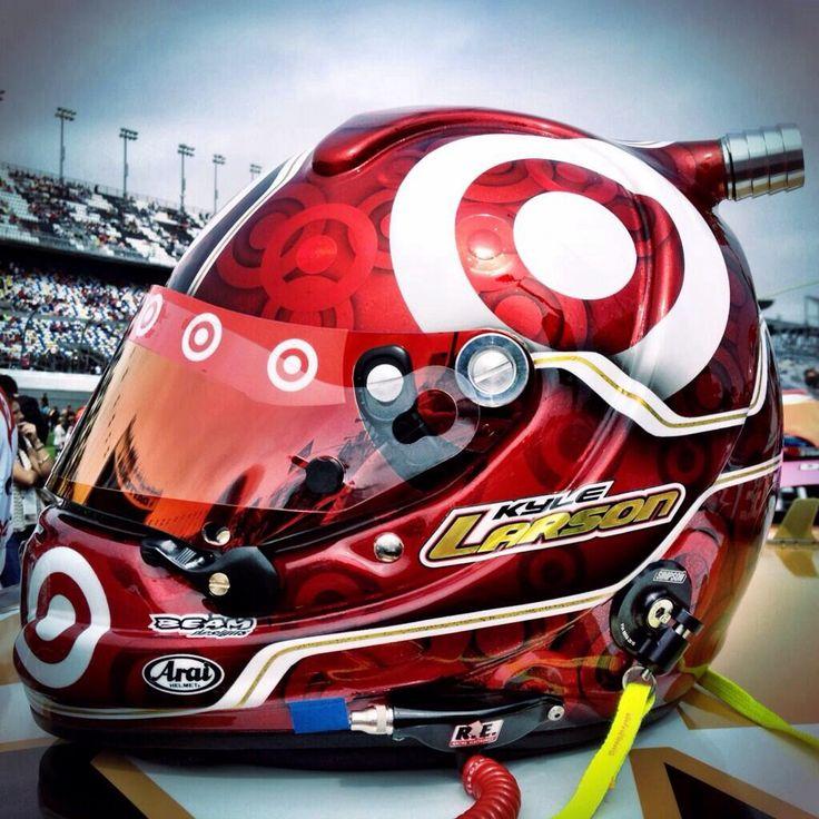 Kyle Larson NASCAR helmet. Las Vegas. Target.