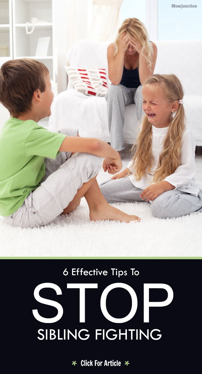 how to stop siblings from fighting all the time
