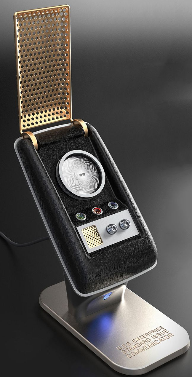 News - The Wand Company unveiled its upcoming Bluetooth Star Trek: The Original Series Communicator -- the first fully working communicator -- today at Comic-Con, and StarTrek.com has the details.