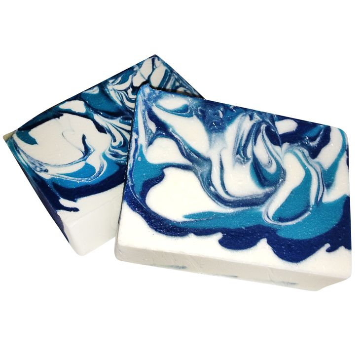 Ocean Surf advanced cold process soap swirl technique from Soap School
