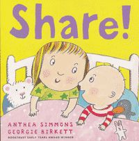 Learning to share your favorite things with a baby brother or sister can be hard at first, but once you get used to it, it's so much fun! Parents will recognise the familiar dynamics of sibling rivalry in this sweet and endearing picture book. The cheeky siblings are gorgeously drawn, and of course discover that sharing can be fun after all. There's just the right balance between naughty humor, sibling rivalry, and affection, and the large format makes this a perfect book to share!