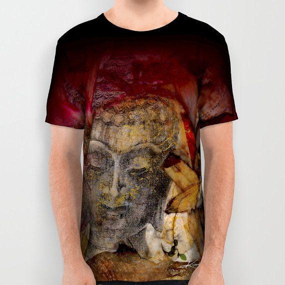 Buddha Shirt, Ladies, Mens, Unisex Shirt - Abstract Watercolor Painting art