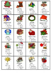 English worksheet: Taboo game Christmas
