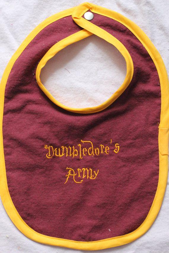 Bib armée par la geekbabystitching de Harry Potter Dumbledore bébé