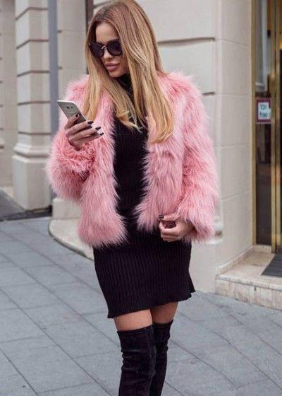 Haina Blana Krina Roz faux fur, autumn, winter, 2016, fashion, fashionista, ootd, outfit, fur, outfitoftheday,shopping, fall, glam streetstyle, pink, grapefruit color, salmon