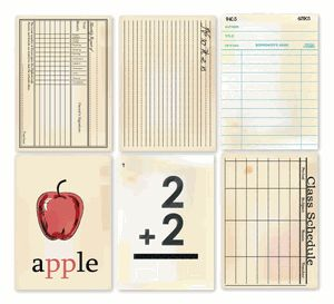 Chic Tags - Delightful Paper Tags - Vintage School Cards - Set of 6                                                                                                                                                                                 More