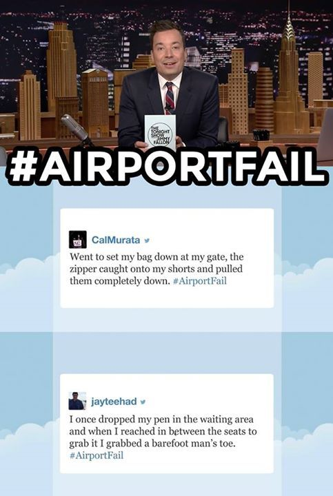 The Tonight Show Starring Jimmy Fallon Jimmy reads some of your funniest #AirportFail tweets.