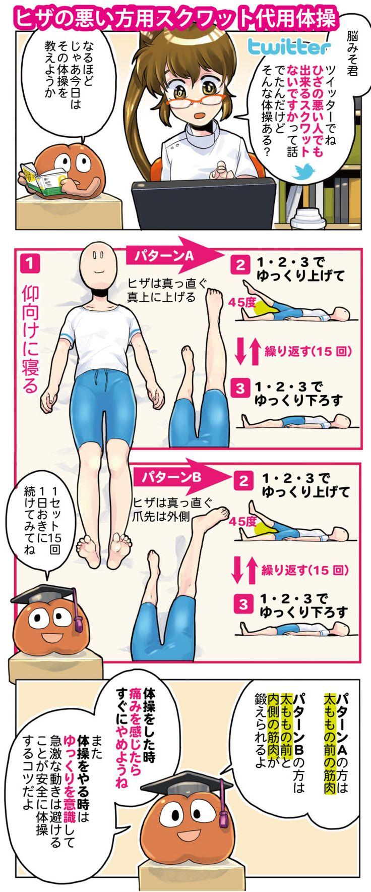 膝が悪い方におすすめ:スクワット代用体操 #膝 #Knee #Health