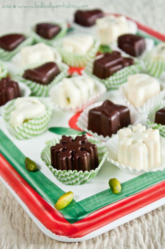 Cioccolatini ripieni  di pistacchio di Bronte