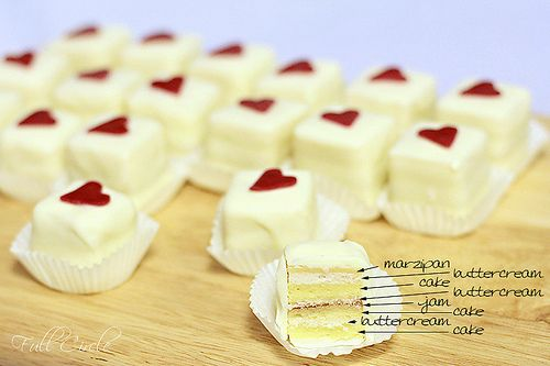 Petit-four How to! My grandma would always get me a box for X-mas. I have been wondering how to make these for some time now!<3<3<3