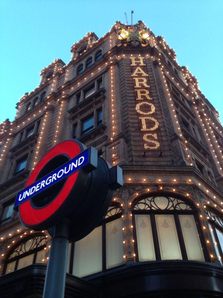 Harrods is an upmarket department store located in Brompton Road in Knightsbridge, in the Royal Borough of Kensington and Chelsea, London. Courtesy of Indy Cabs of Sittingbourne, your executive travel chauffeur service. indycabs.co.uk | 01795350035  #RePin by AT Social Media Marketing - Pinterest Marketing Specialists ATSocialMedia.co.uk