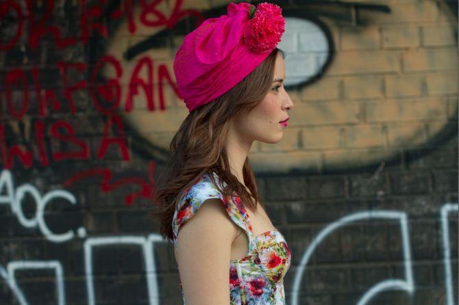 Madame Periné. Tour Huracán. Vestido primaveral. Rivas 2013. Foto Stefanie Schmid Rincón