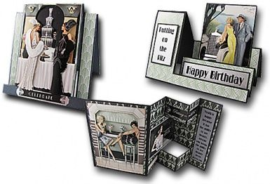 Art Deco Roaring Twenties Card Front Toppers""