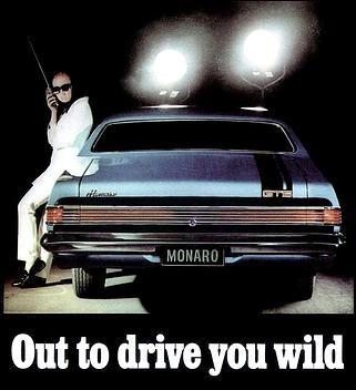 Pinterest : @MazLyons Poster/Artwork for home- HK Holden Monaro ad - For all those Holden Monaro fans