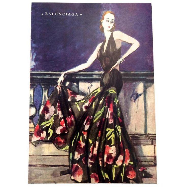 Balenciaga Vintage Ad Print - 1940's | 1stdibs.com