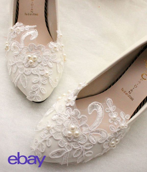 Shop bridal flats for your wedding day.