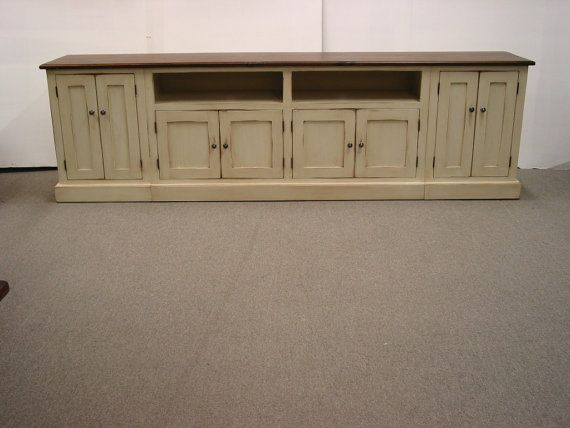 TV Stand  Long  TV Console Wood TV  by HarvestTreasuresInc on Etsy, $2,500.00