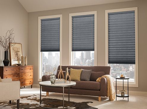 Bali Pleated Shades Collection Motif Color Name Liquid Silver Number 1652 Options Shown With Cordless Lift