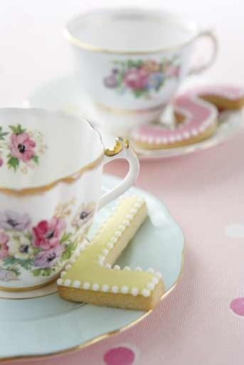 High Tea and Initial Biscuits (Cookies) :)