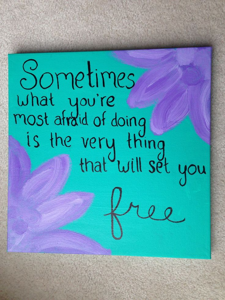 17 best ideas about canvas quote paintings on pinterest for Inspirational quotes painted on canvas